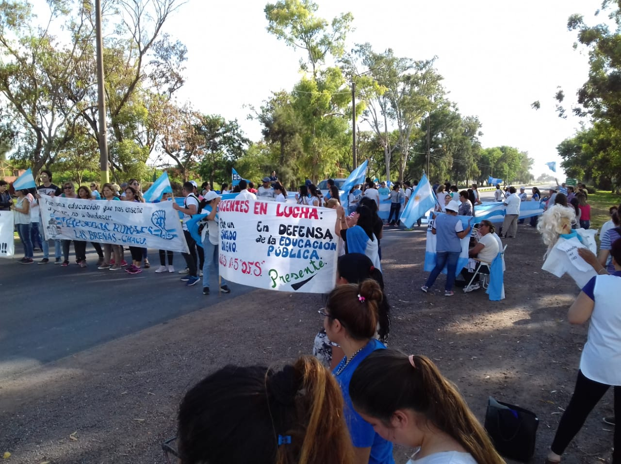 Las Breñas: Interrupción momentánea del tránsito sobre Ruta Nacional N° 89